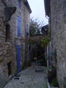 Alley in Ansouis, France